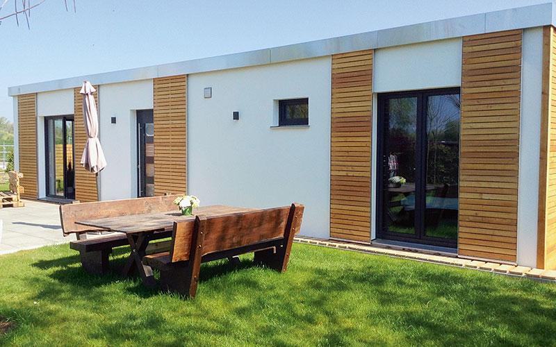 Modular gebaute Minihäuser punkten mit optimal genutztem Wohnraum