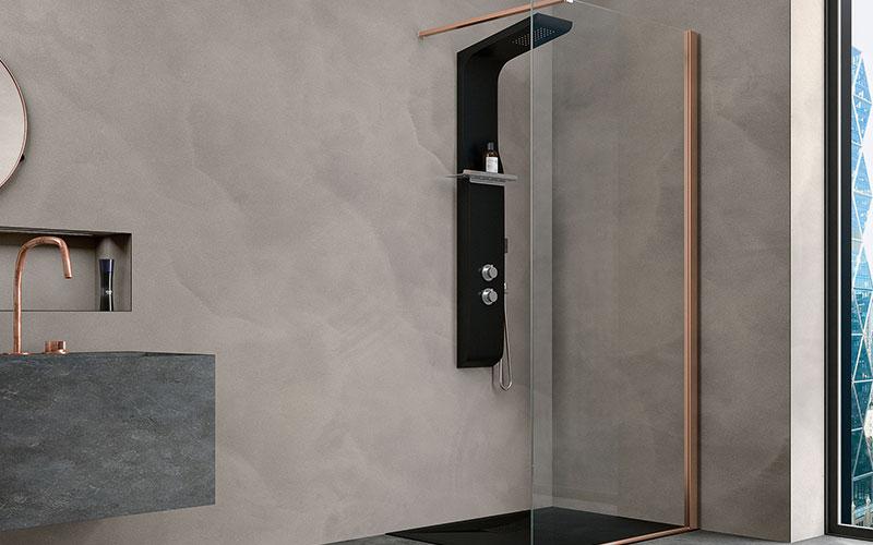 Die Leichtigkeit einer Walk-in-Duschwand